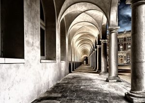 corridor-with-cloisters-light-and-shadow